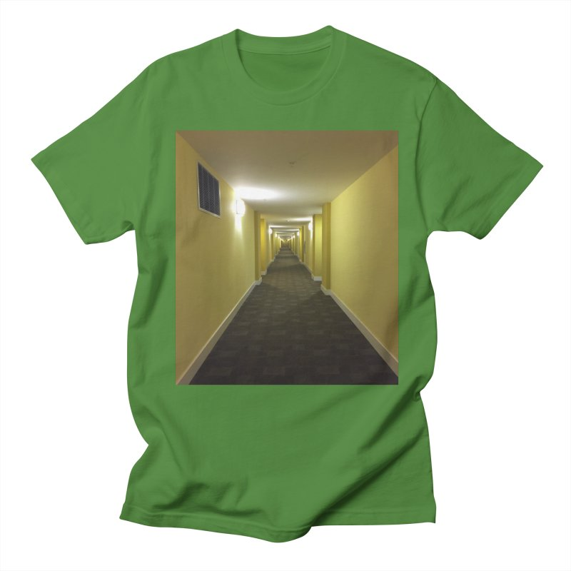 Hallway - What could happen? Men's T-shirt by terryann's Artist Shop