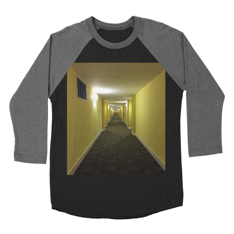 Hallway - What could happen? Men's Baseball Triblend T-Shirt by terryann's Artist Shop