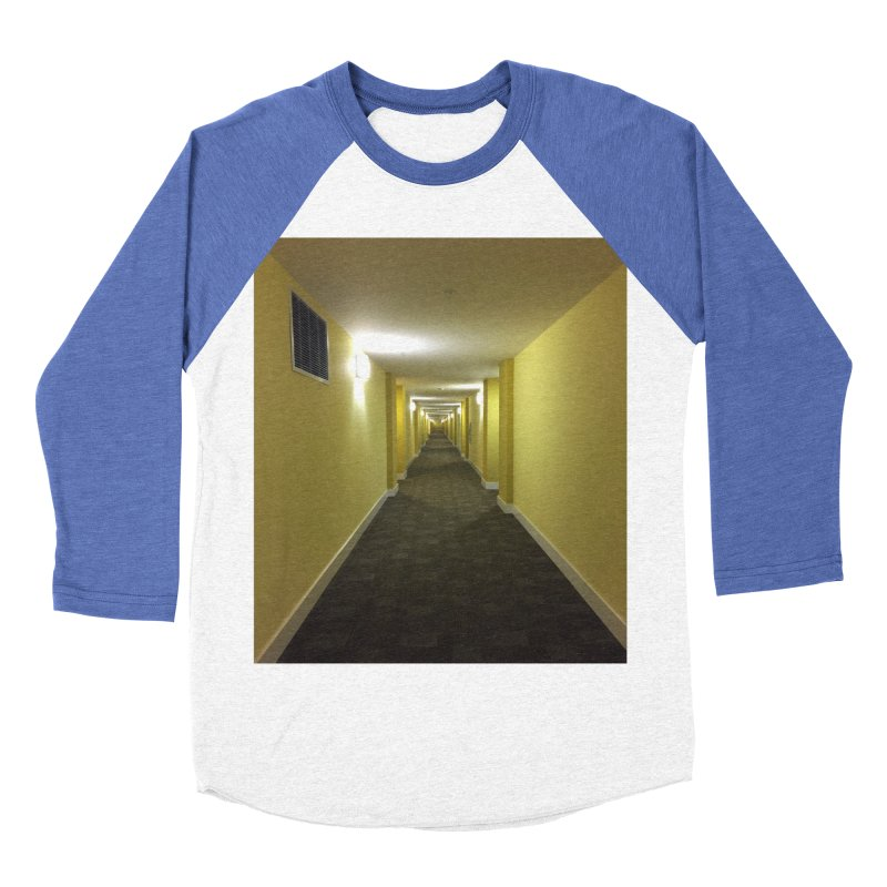 Hallway - What could happen? Men's Baseball Triblend T-Shirt by terryann's Artist Shop