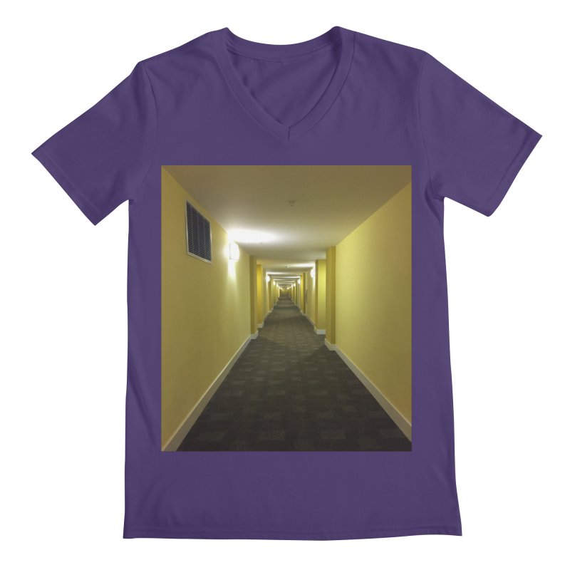 Hallway - What could happen? Men's V-Neck by terryann's Artist Shop