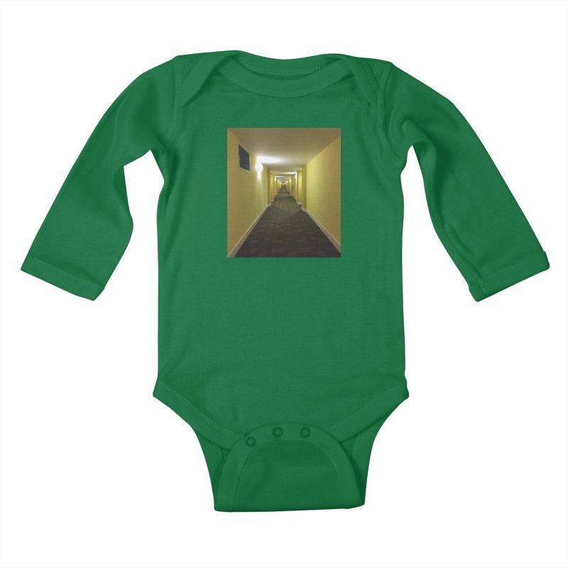 Hallway - What could happen? Kids Baby Longsleeve Bodysuit by terryann's Artist Shop