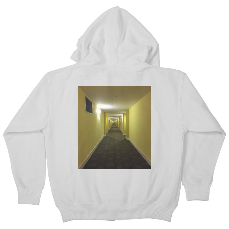 Hallway - What could happen? Kids Zip-Up Hoody by terryann's Artist Shop
