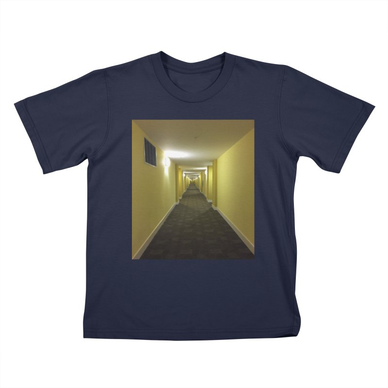 Hallway - What could happen? Kids T-Shirt by terryann's Artist Shop