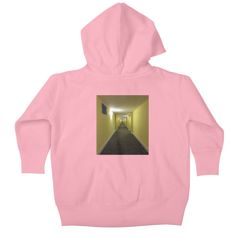 Hallway - What could happen? Kids Baby Zip-Up Hoody by terryann's Artist Shop
