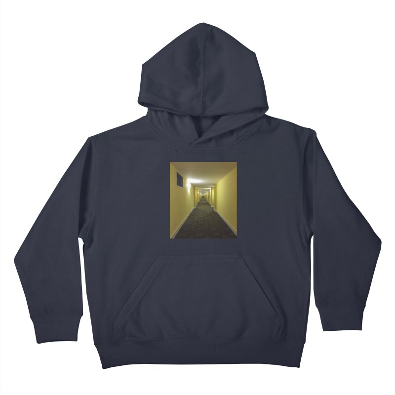 Hallway - What could happen? Kids Pullover Hoody by terryann's Artist Shop