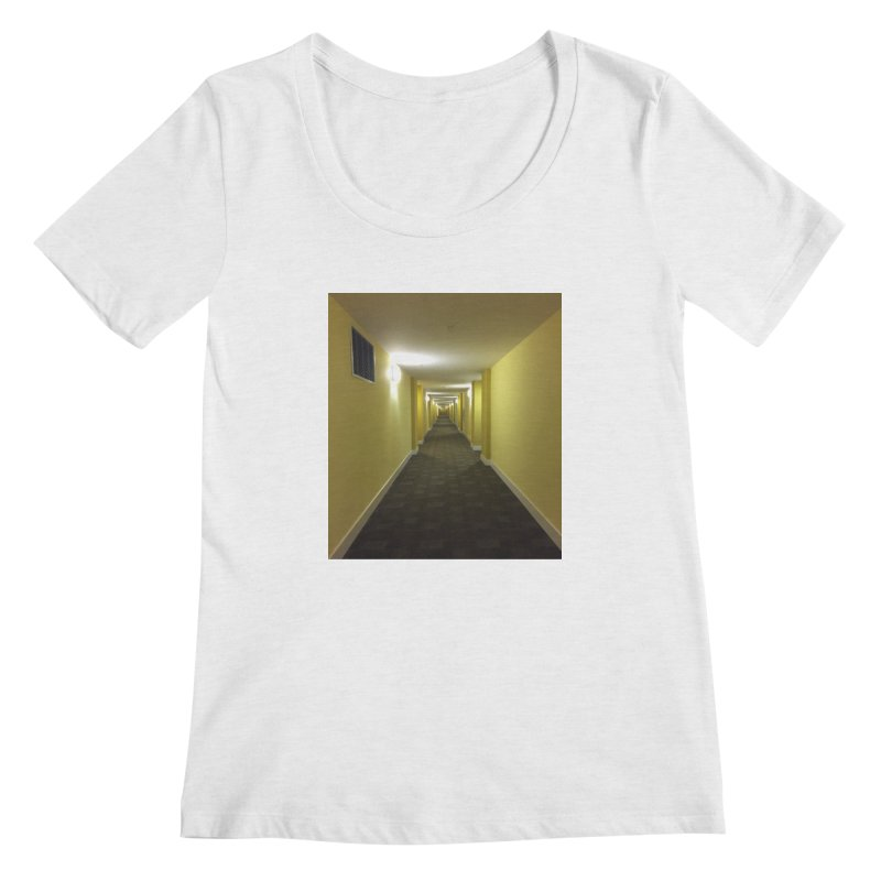 Hallway - What could happen? Women's Scoopneck by terryann's Artist Shop