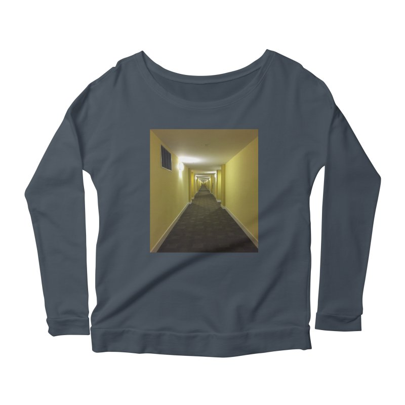 Hallway - What could happen? Women's Longsleeve Scoopneck  by terryann's Artist Shop
