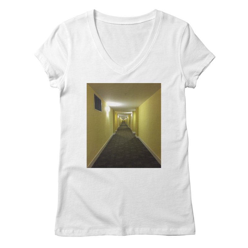 Hallway - What could happen? Women's V-Neck by terryann's Artist Shop