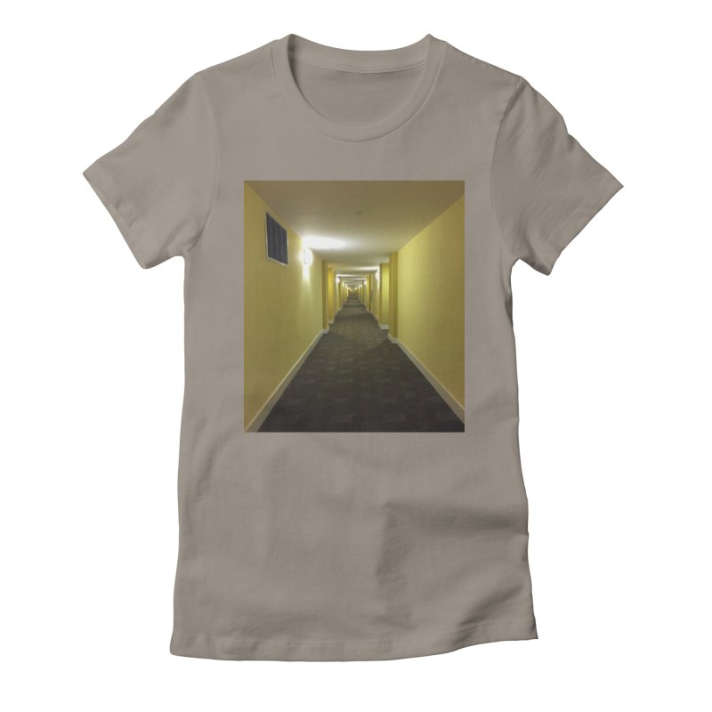 Hallway - What could happen? Women's Fitted T-Shirt by terryann's Artist Shop