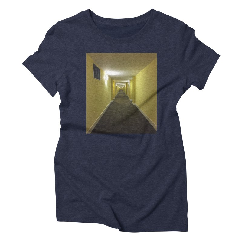 Hallway - What could happen? Women's Triblend T-Shirt by terryann's Artist Shop