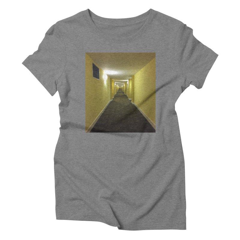 Hallway - What could happen? Women's Triblend T-shirt by terryann's Artist Shop