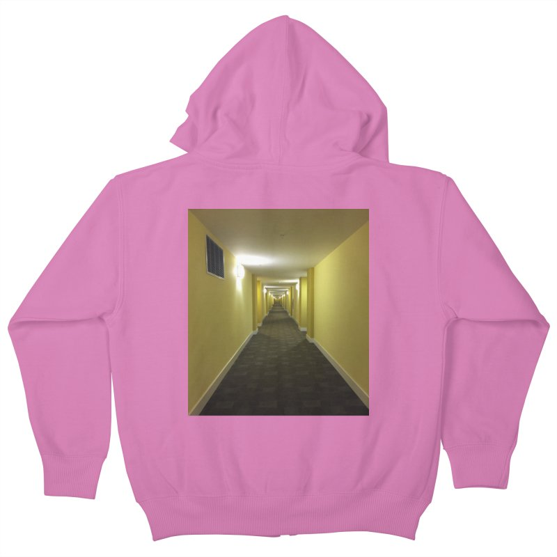 Hallway - What could happen? Kids Zip-Up Hoody by terryann's Artist Shop
