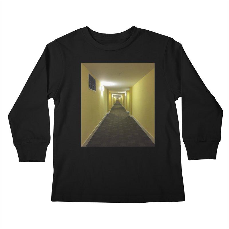 Hallway - What could happen? Kids Longsleeve T-Shirt by terryann's Artist Shop