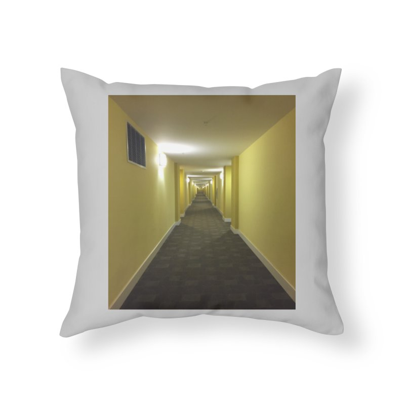 Hallway - What could happen? Home Throw Pillow by terryann's Artist Shop