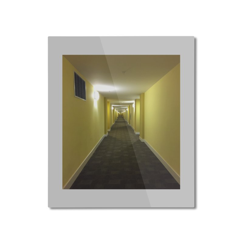 Hallway - What could happen? Home Mounted Aluminum Print by terryann's Artist Shop