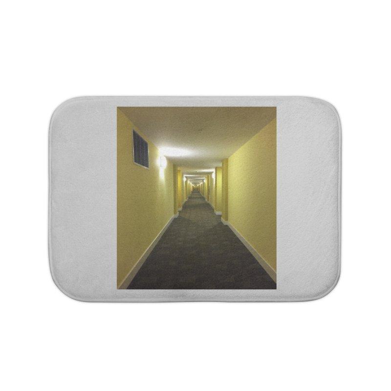 Hallway - What could happen? Home Bath Mat by terryann's Artist Shop