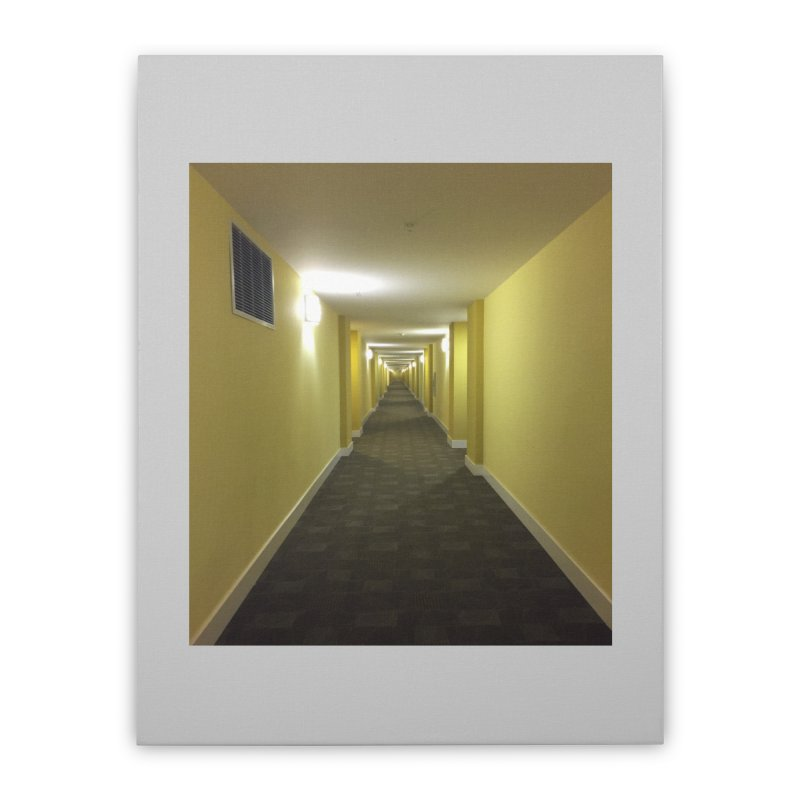 Hallway - What could happen? Home Stretched Canvas by terryann's Artist Shop