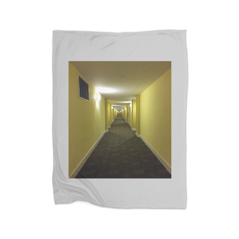 Hallway - What could happen? Home Fleece Blanket by terryann's Artist Shop