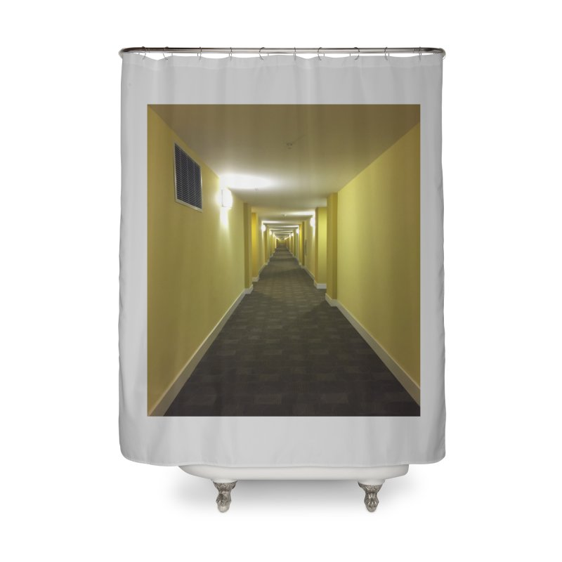 Hallway - What could happen? Home Shower Curtain by terryann's Artist Shop