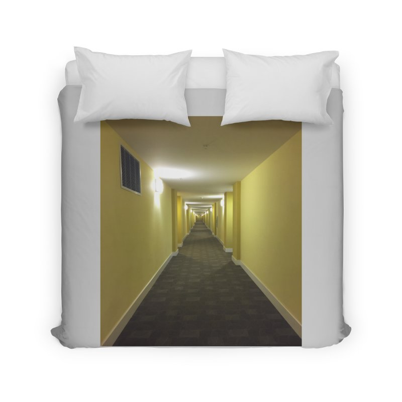 Hallway - What could happen? Home Duvet by terryann's Artist Shop