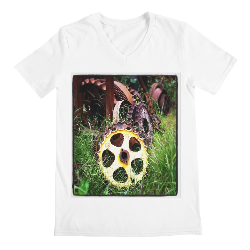 Sprockets and Gears for the Gear Head Men's V-Neck by terryann's Artist Shop