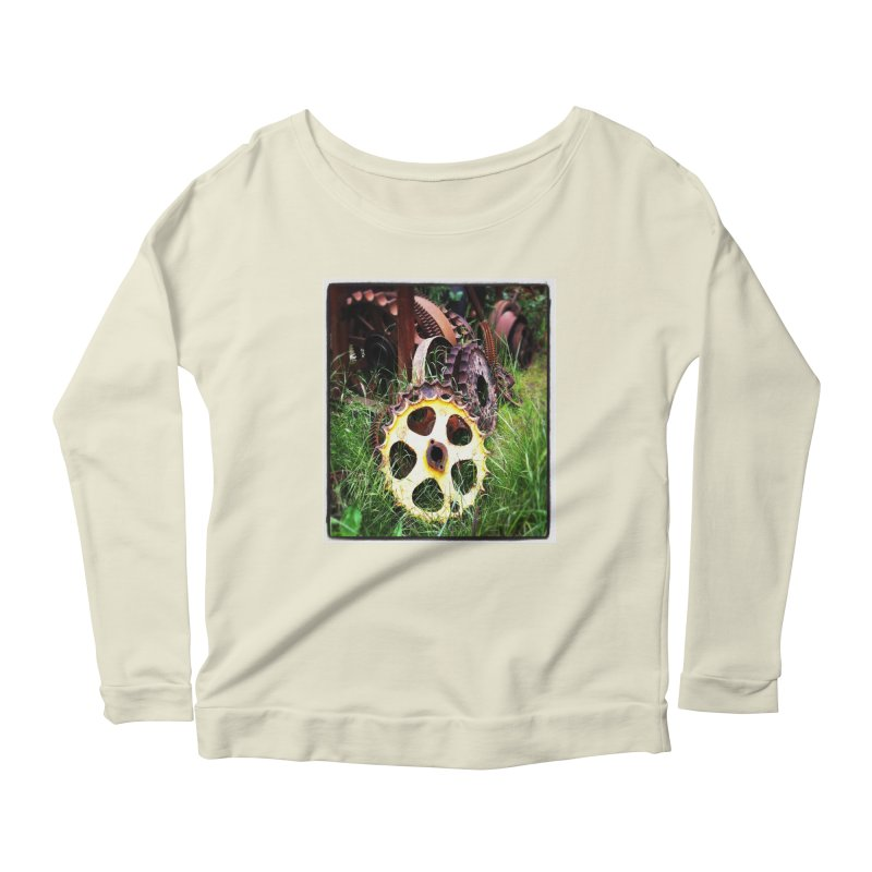 Sprockets and Gears for the Gear Head Women's Longsleeve Scoopneck  by terryann's Artist Shop