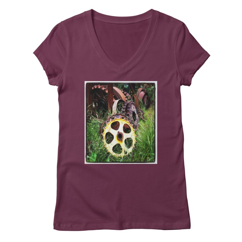 Sprockets and Gears for the Gear Head Women's V-Neck by terryann's Artist Shop