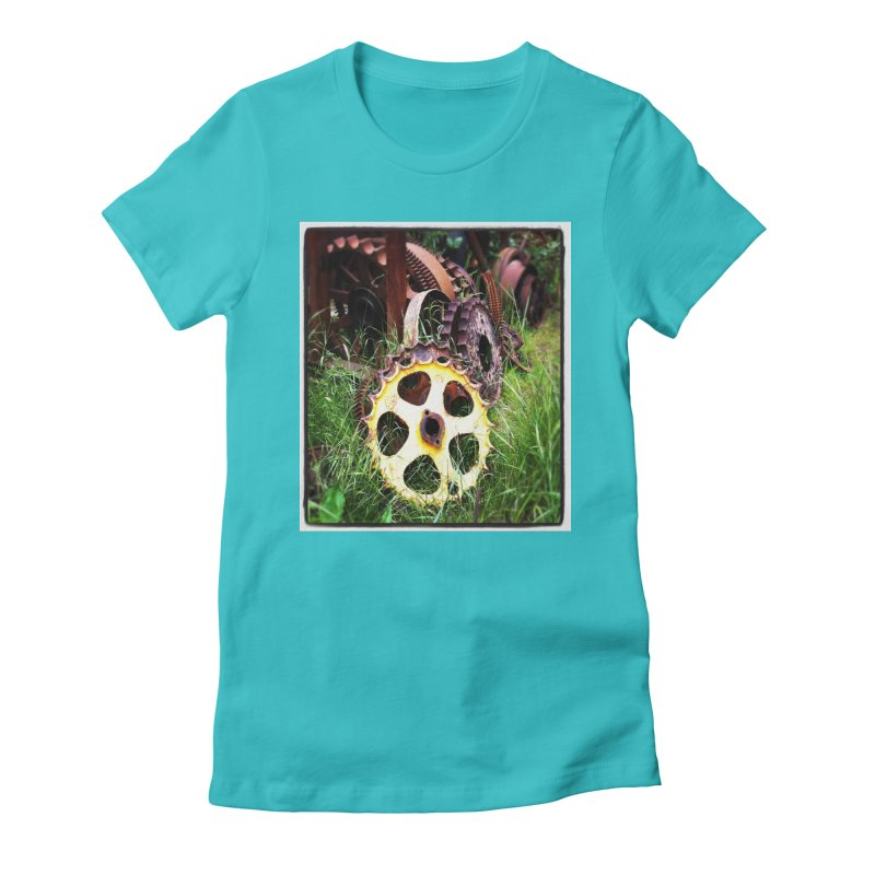 Sprockets and Gears for the Gear Head Women's Fitted T-Shirt by terryann's Artist Shop