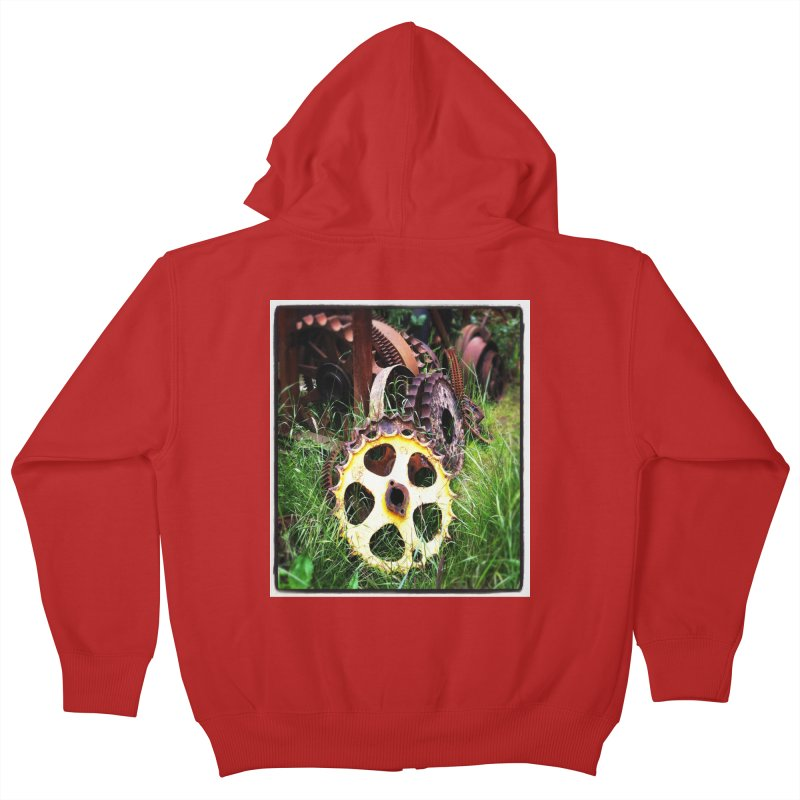 Sprockets and Gears for the Gear Head Kids Zip-Up Hoody by terryann's Artist Shop