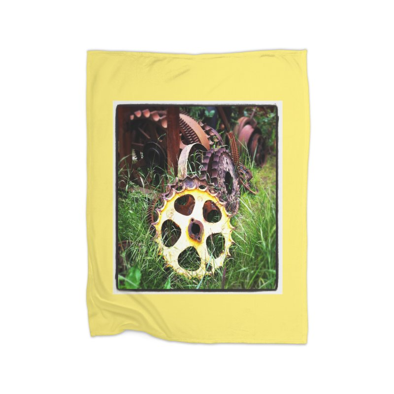 Sprockets and Gears for the Gear Head Home Fleece Blanket by terryann's Artist Shop