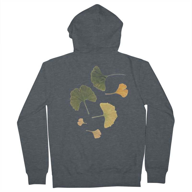 Ginkgo for you. Men's Zip-Up Hoody by terryann's Artist Shop