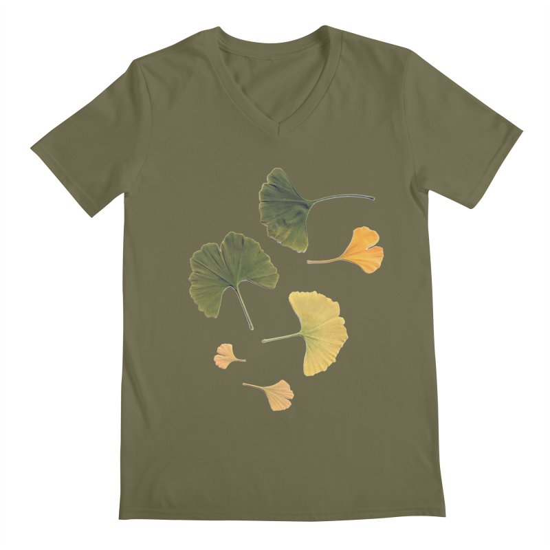 Ginkgo for you. Men's V-Neck by terryann's Artist Shop