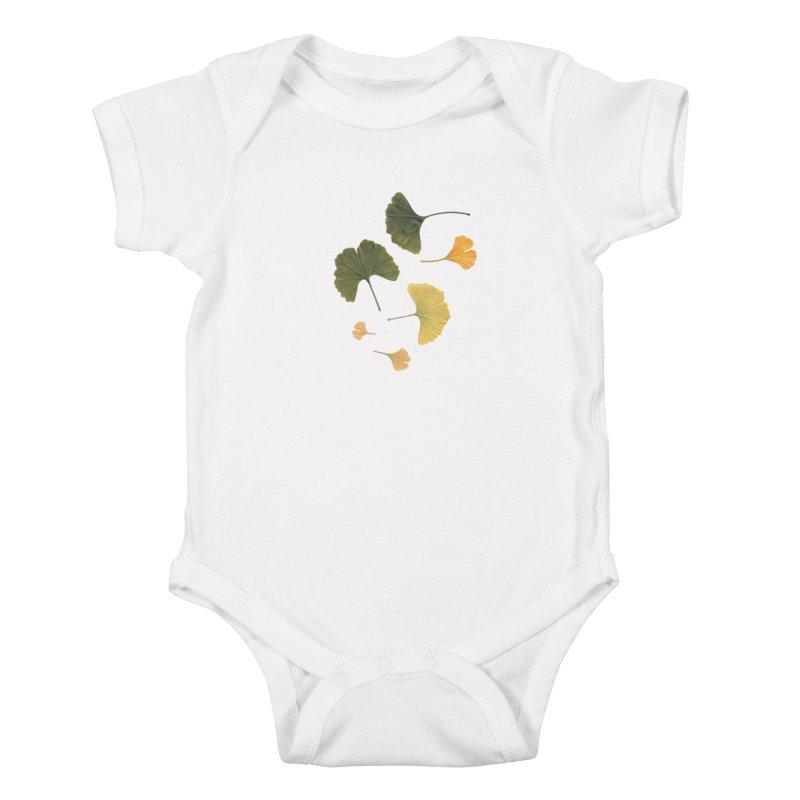 Ginkgo for you. Kids Baby Bodysuit by terryann's Artist Shop