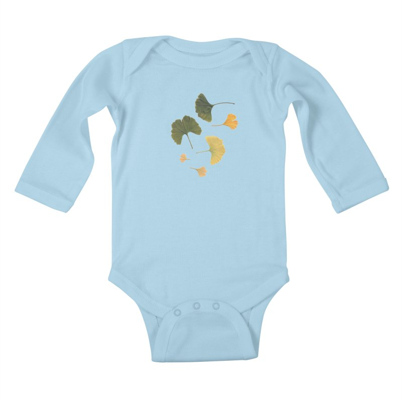 Ginkgo for you. Kids Baby Longsleeve Bodysuit by terryann's Artist Shop