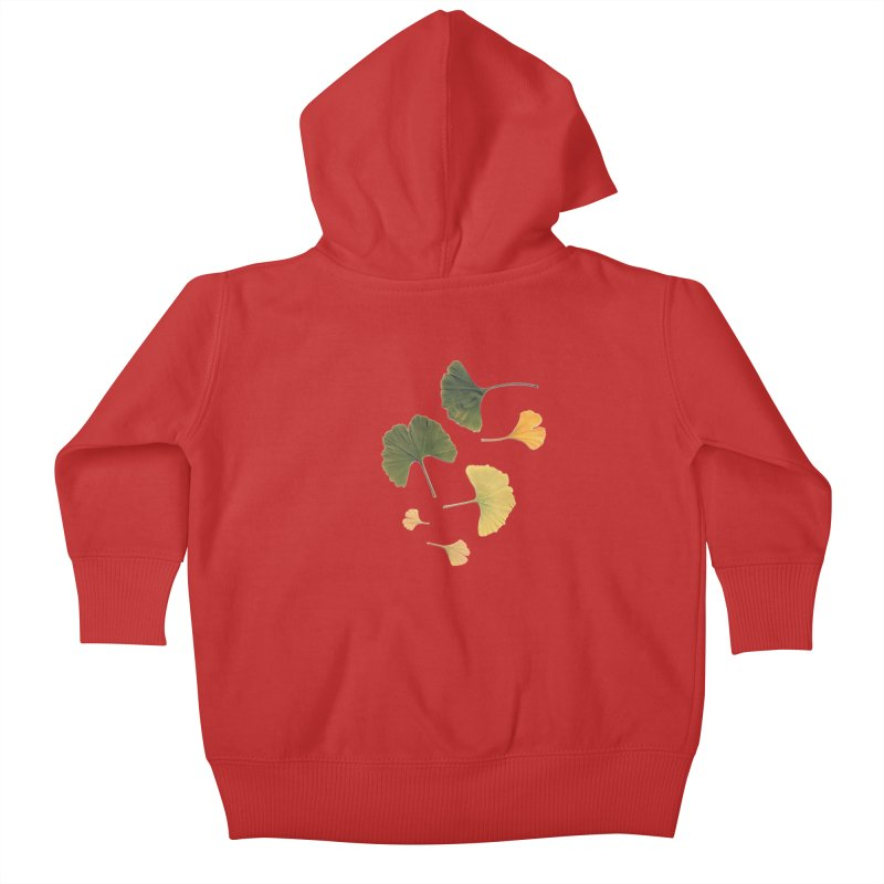 Ginkgo for you. Kids Baby Zip-Up Hoody by terryann's Artist Shop
