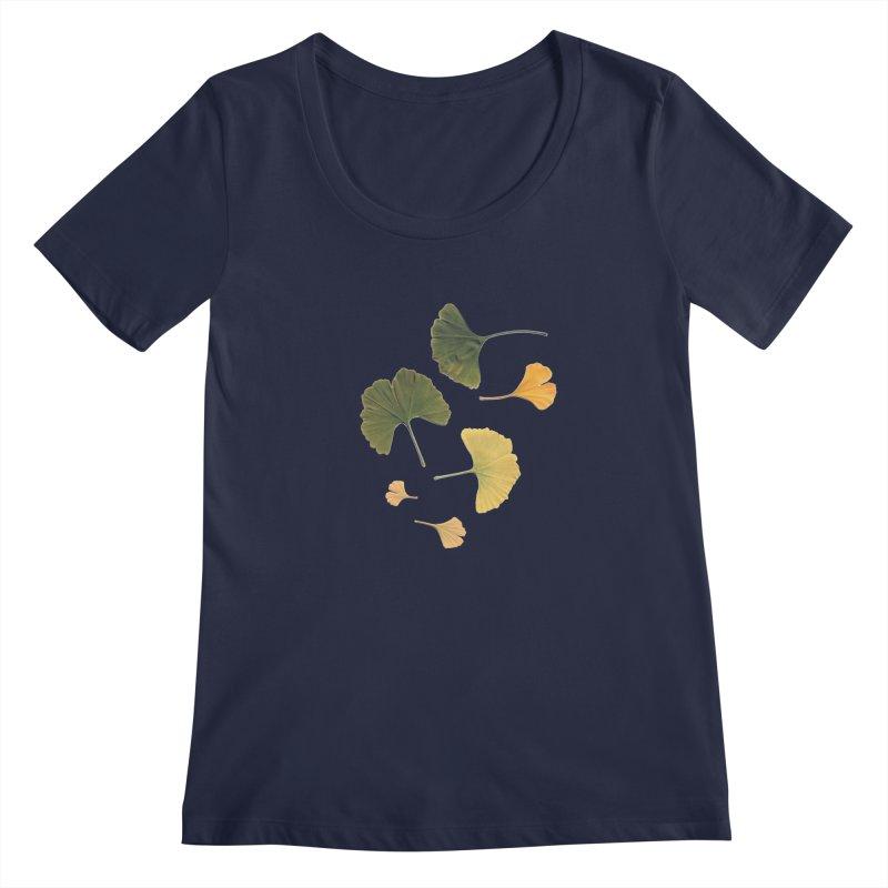 Ginkgo for you. Women's Scoopneck by terryann's Artist Shop