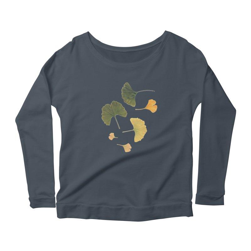 Ginkgo for you. Women's Longsleeve Scoopneck  by terryann's Artist Shop