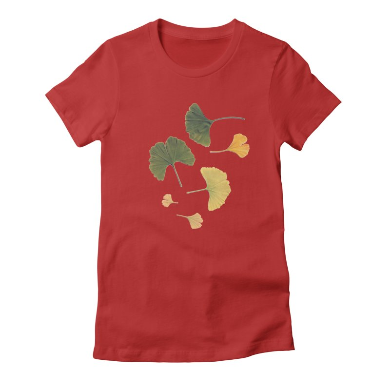 Ginkgo for you. Women's Fitted T-Shirt by terryann's Artist Shop