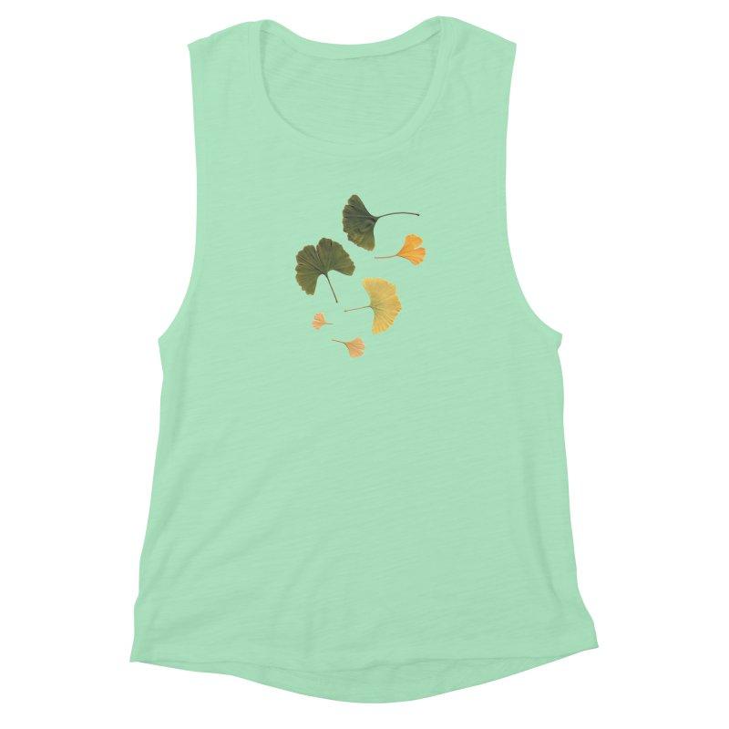Ginkgo for you. Women's Muscle Tank by terryann's Artist Shop