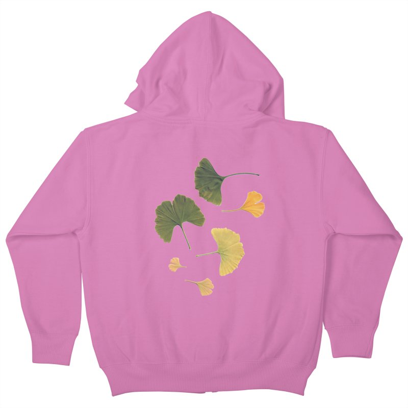 Ginkgo for you. Kids Zip-Up Hoody by terryann's Artist Shop