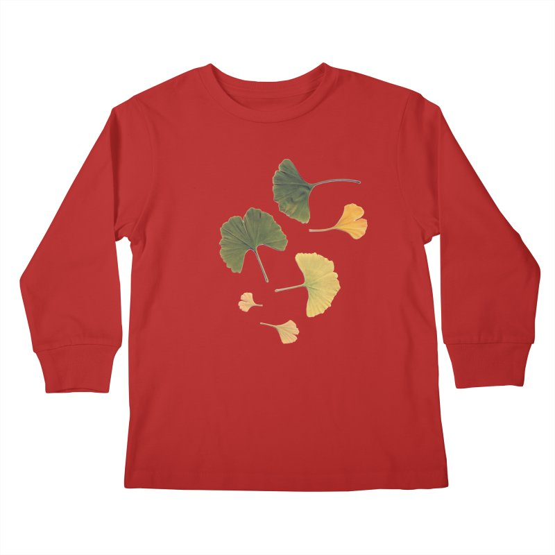 Ginkgo for you. Kids Longsleeve T-Shirt by terryann's Artist Shop
