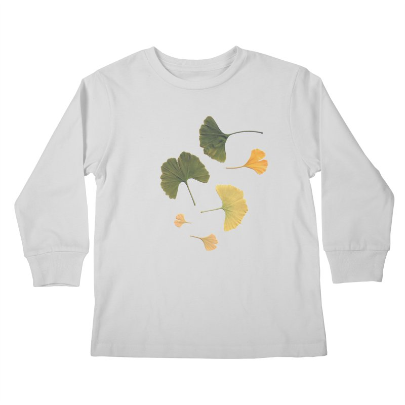 Ginkgo for you. Kids Longsleeve T-Shirt by terryann's Artist Shop