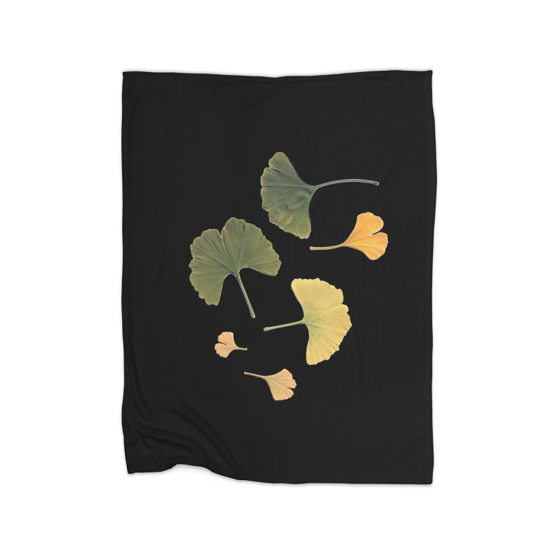 Ginkgo for you. Home Fleece Blanket by terryann's Artist Shop