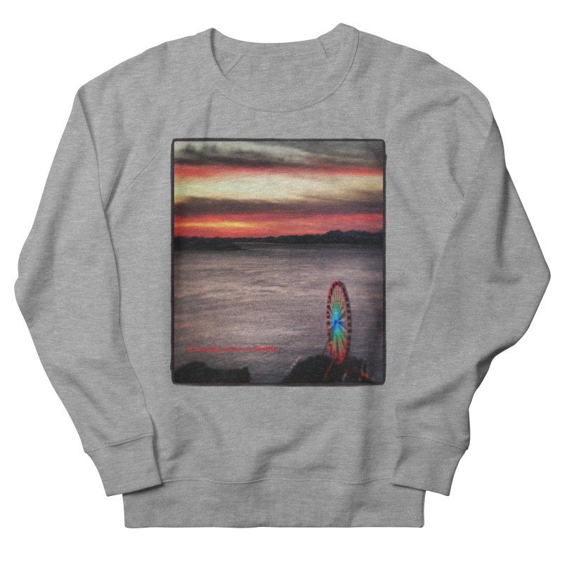 It never rains in Seattle! Men's Sweatshirt by terryann's Artist Shop