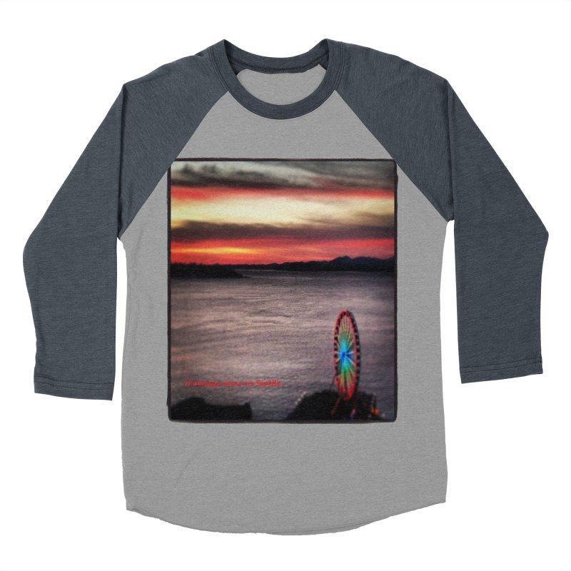 It never rains in Seattle! Men's Baseball Triblend T-Shirt by terryann's Artist Shop