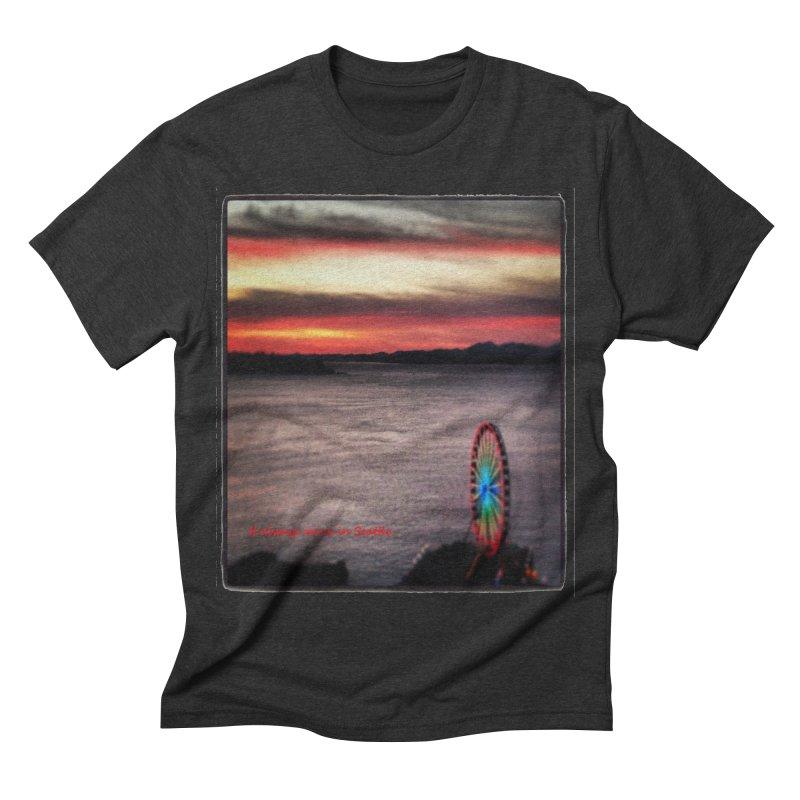 It never rains in Seattle! Men's Triblend T-shirt by terryann's Artist Shop