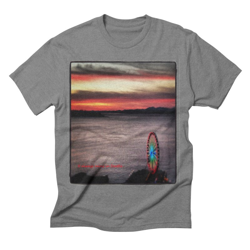It never rains in Seattle! Men's Triblend T-shirt by terryann's Artist Shop
