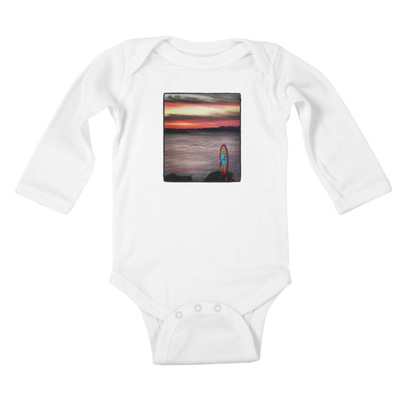 It never rains in Seattle! Kids Baby Longsleeve Bodysuit by terryann's Artist Shop