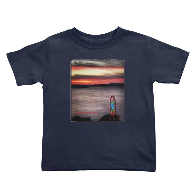 It never rains in Seattle! Kids Toddler T-Shirt by terryann's Artist Shop