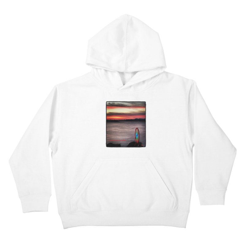 It never rains in Seattle! Kids Pullover Hoody by terryann's Artist Shop